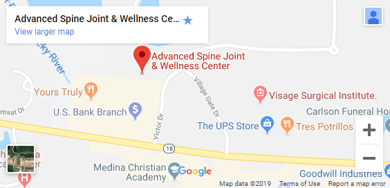 Map of Medina OH Chiropractors
